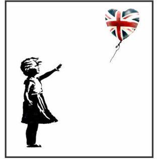 banksy girl with uk balloon