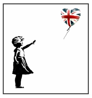 banksy girl with uk balloon