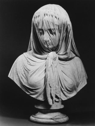 veiled woman by giovanni battista lombardi