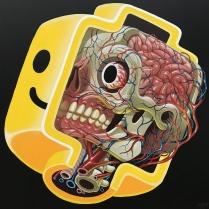 ┬®NYCHOS-2018-Lego-Head-Anatomy-Acrylic-on-canvas