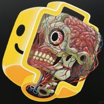 ┬®NYCHOS-2018-Lego-Head-Anatomy-Acrylic-on-canvas