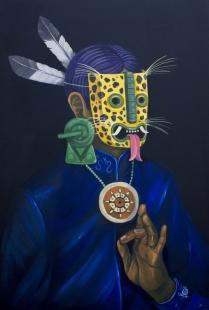 ┬®SANER-2015-Ravi-el-protector-Acri╠ülico-sobre-lienzo-90x60cm